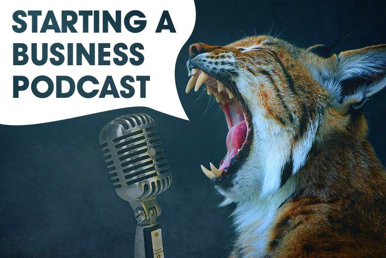 Start a business podcast