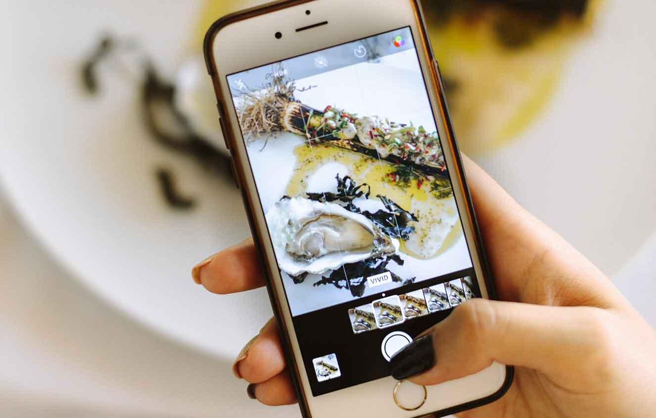 taking photographs for social media