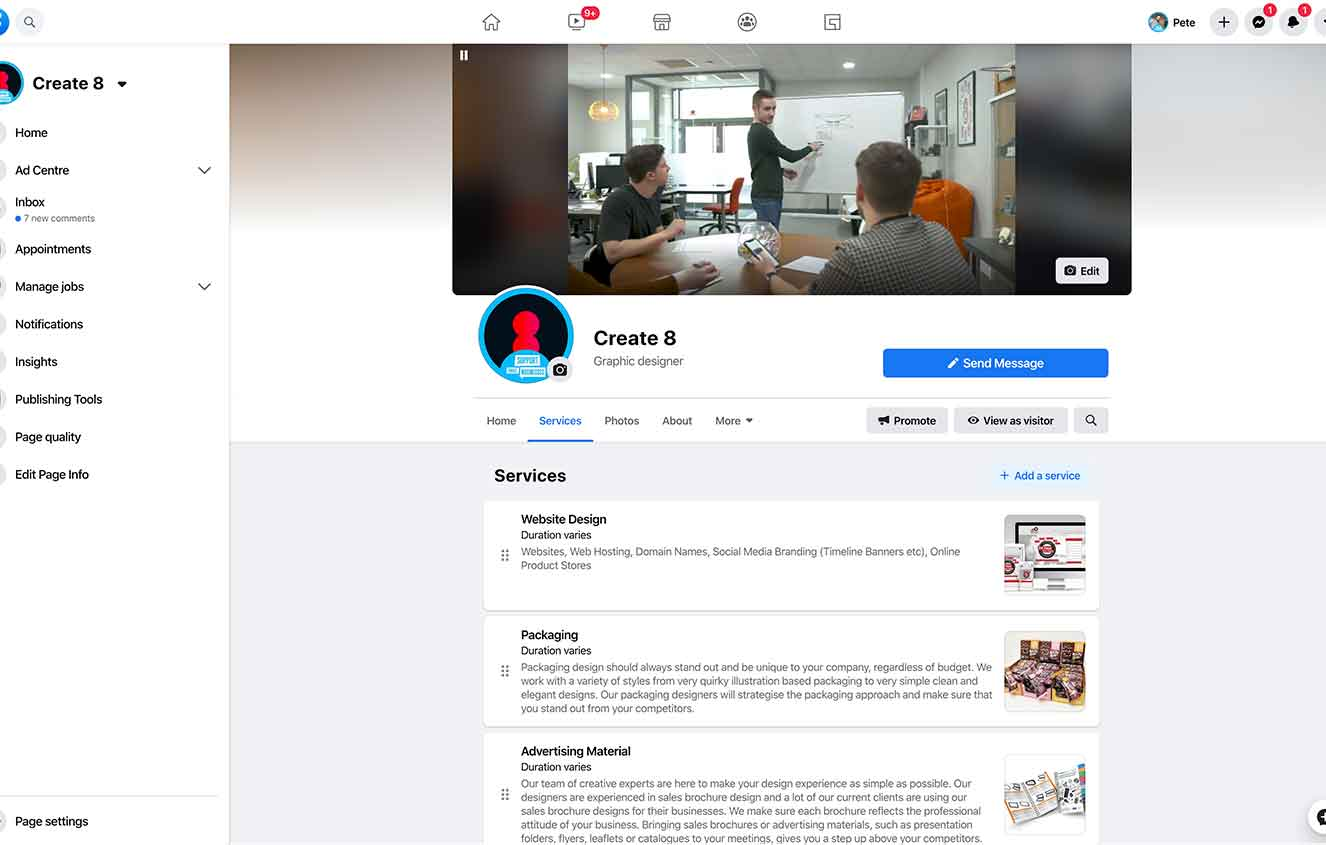 setting up facebook page social media guide 2020