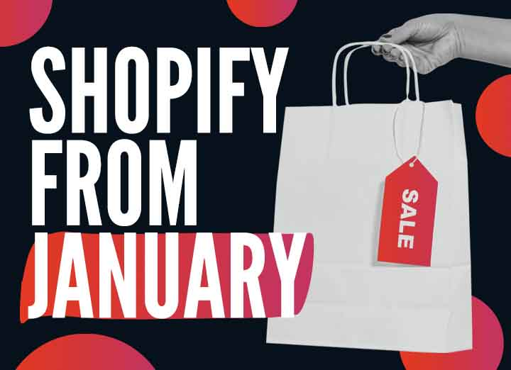 Shopify Stores from January