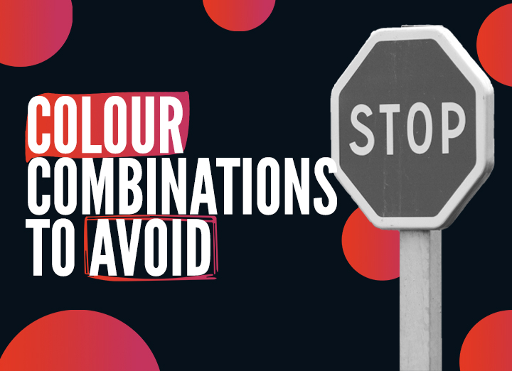 Website Colour Combinations to Avoid